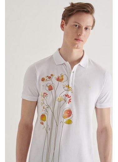 Avva Erkek  Polo Tişört A11Y1081 Beyaz